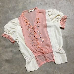Authentic Embroidered Balenciaga Blouse